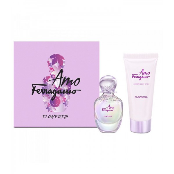 FERRAGAMO AMO FLOWERFUL EDT GIFT SET