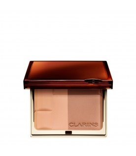 Bronzing duo powder compact